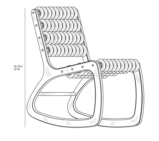Razor rocker sensory chair