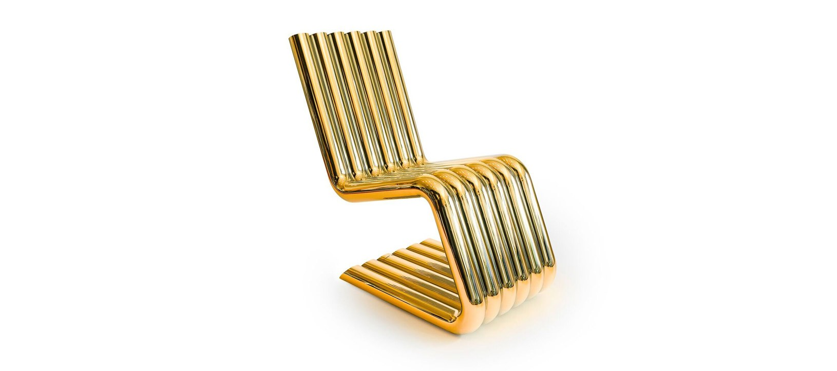 XOSTED - automotive inspired golden Chair