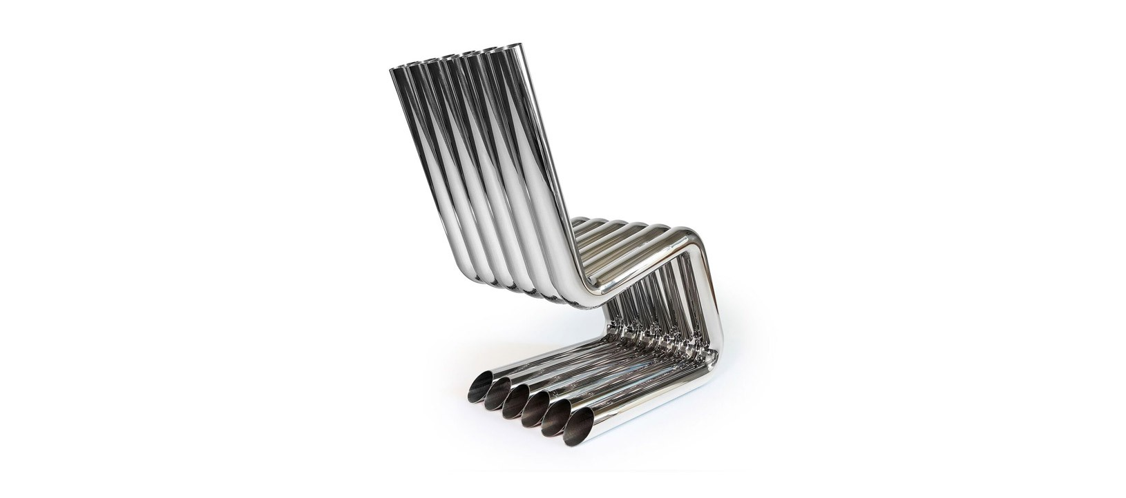 XOSTED - automotive inspired silver Chair