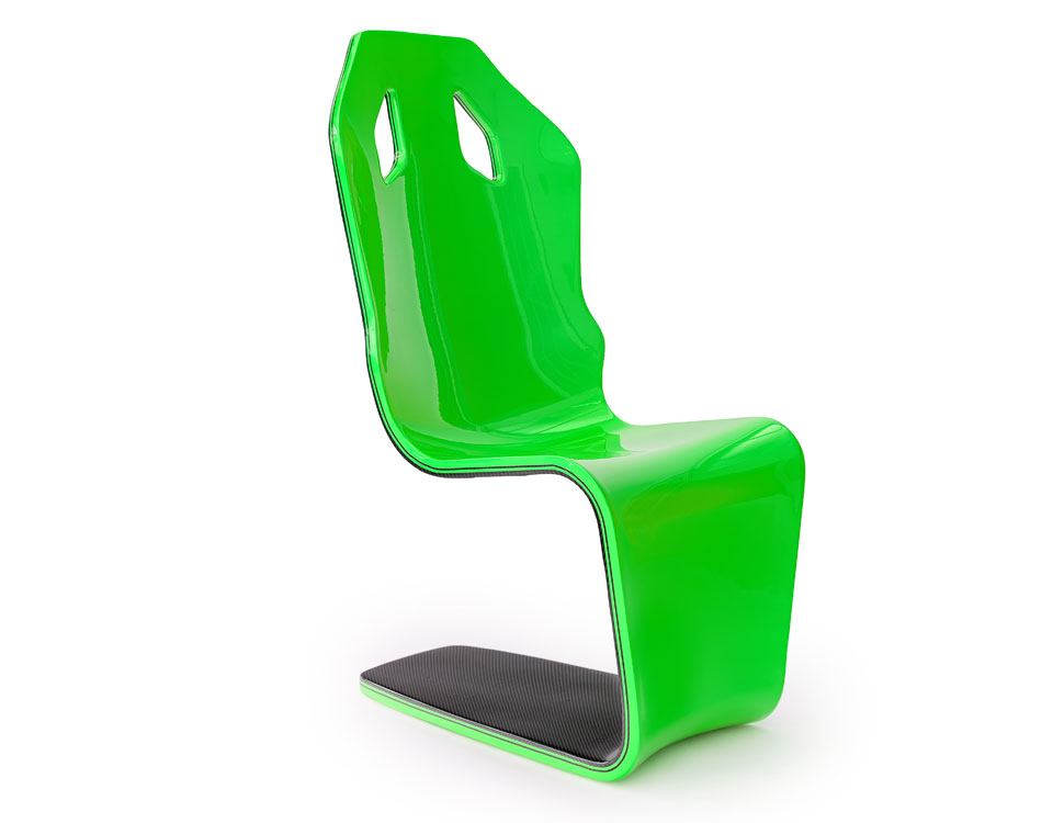 Lambo green automotive chair
