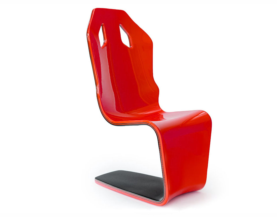 Red automotive chair